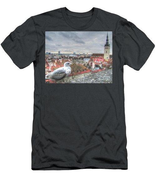 The Guard Of Tallinn Men's T-Shirt (Slim Fit) by Yury Bashkin