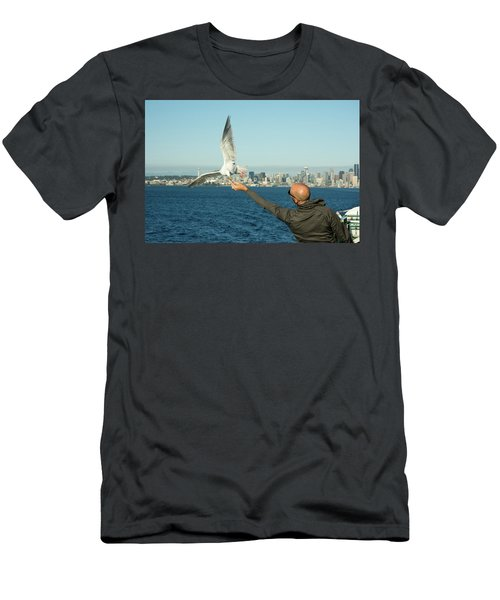 The Hand That Feeds You. Men's T-Shirt (Athletic Fit)