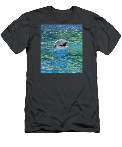 The Happy Dolphin Men's T-Shirt (Slim Fit) by Nikki McInnes