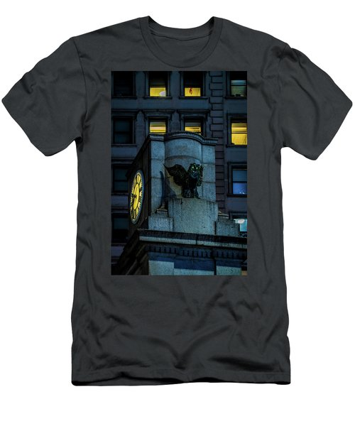 Men's T-Shirt (Slim Fit) featuring the photograph The Herald Square Owl by Chris Lord