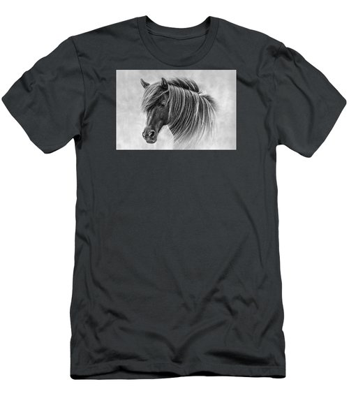 The Horses Of Iceland Men's T-Shirt (Slim Fit) by Brad Grove