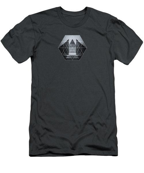 The Hotel Experimental Futuristic Architecture Photo Art In Modern Black And White Men's T-Shirt (Athletic Fit)