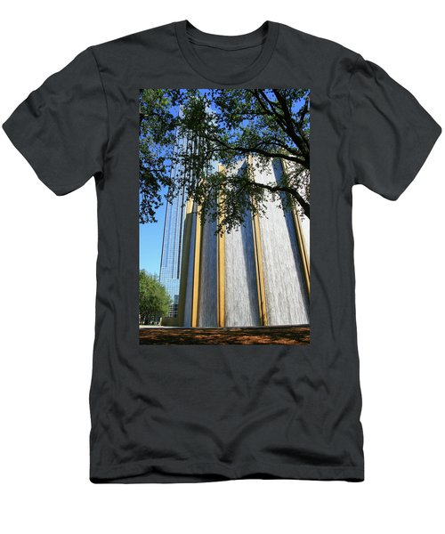 The Houston Water Wall And Williams Tower Men's T-Shirt (Athletic Fit)