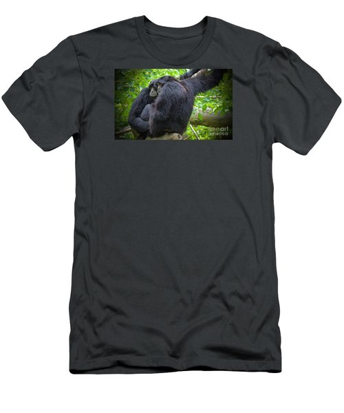 Men's T-Shirt (Slim Fit) featuring the painting The Huddle by Judy Kay