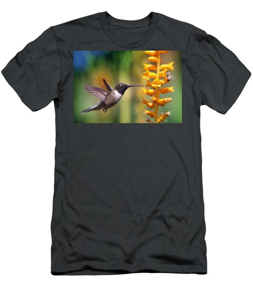 The Hummingbird And The Bee Men's T-Shirt (Athletic Fit)