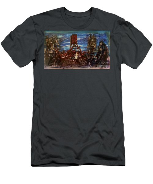 Men's T-Shirt (Athletic Fit) featuring the painting The Inhuman Condition by Reed Novotny