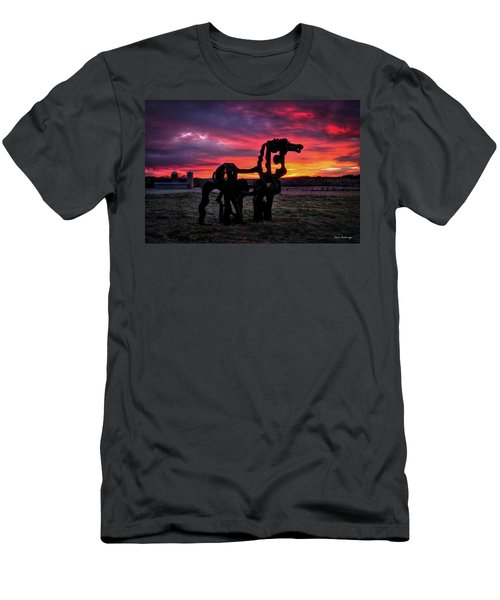 The Iron Horse Sun Up Art Men's T-Shirt (Athletic Fit)