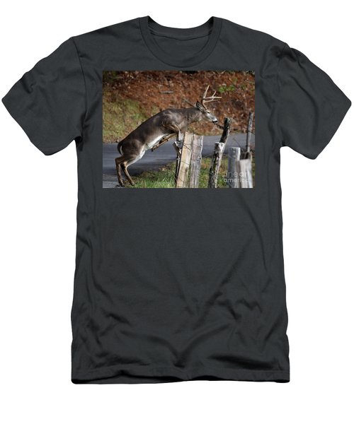 Men's T-Shirt (Slim Fit) featuring the photograph The Jumper by Douglas Stucky