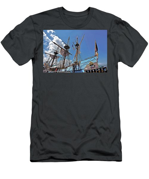 Men's T-Shirt (Slim Fit) featuring the photograph The Kalmar Nyckel - Delaware by Brendan Reals