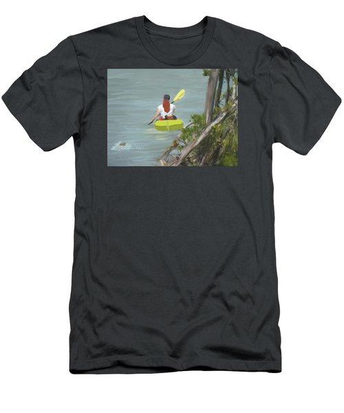 The Kayaker Men's T-Shirt (Slim Fit) by Rosalie Scanlon