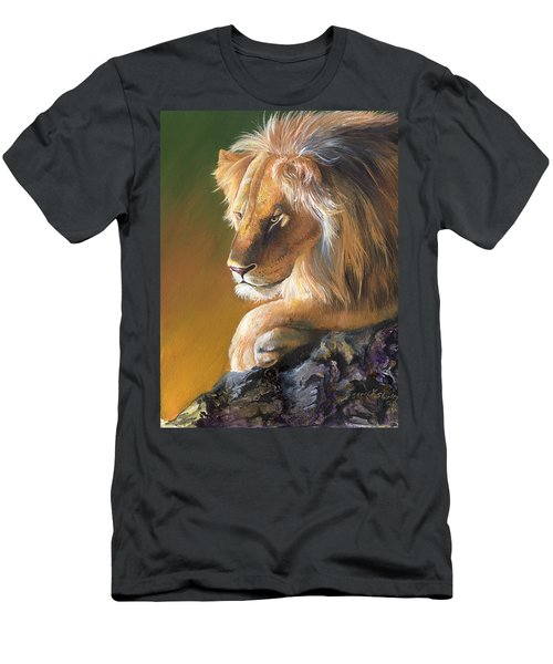 Men's T-Shirt (Slim Fit) featuring the painting The King by Sherry Shipley