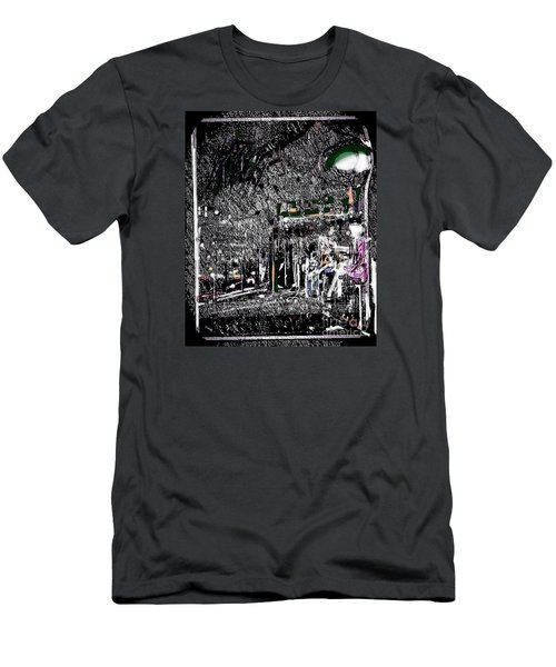 The Lady In The Bus Stop Men's T-Shirt (Athletic Fit)