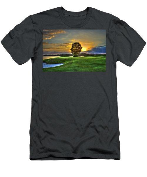 The Landing Golf Course Reynolds Plantation Landscape Art Men's T-Shirt (Athletic Fit)