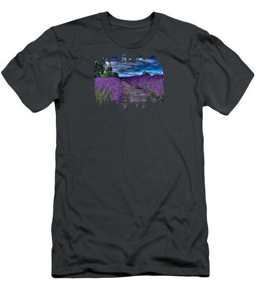 Men's T-Shirt (Slim Fit) featuring the photograph The Lavender Field by Thom Zehrfeld