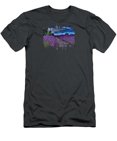 The Lavender Field Men's T-Shirt (Athletic Fit)
