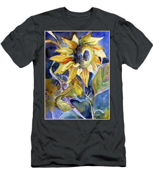 The Light Of Sunflowers Men's T-Shirt (Slim Fit) by Mindy Newman