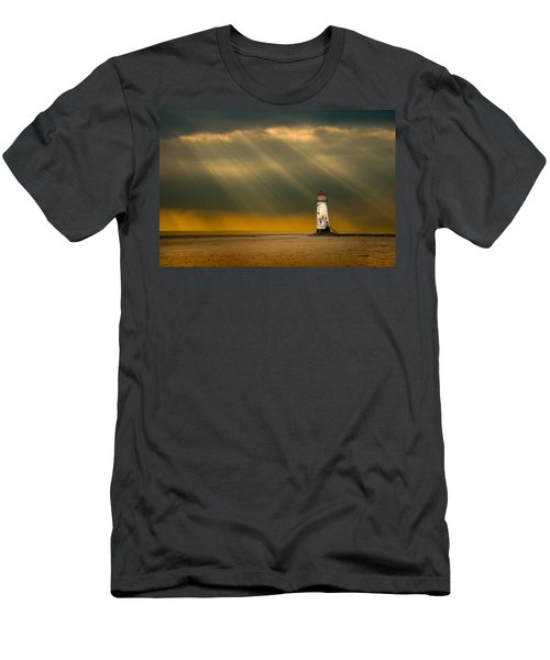 The Lighthouse As The Storm Breaks Men's T-Shirt (Athletic Fit)