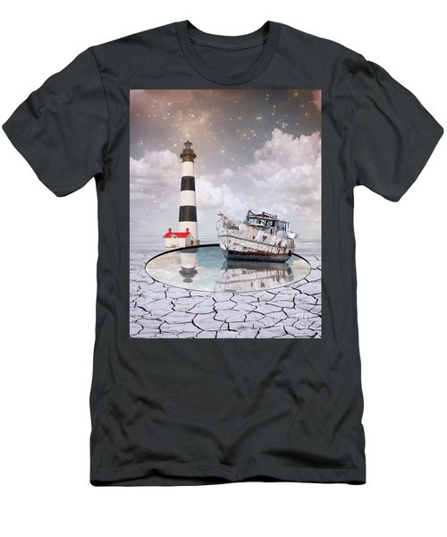 Men's T-Shirt (Slim Fit) featuring the photograph The Lighthouse by Juli Scalzi