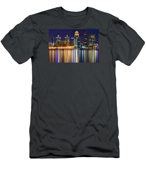 The Lights Of A Louisville Night Men's T-Shirt (Slim Fit) by Frozen in Time Fine Art Photography