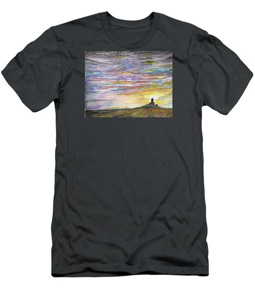 Men's T-Shirt (Athletic Fit) featuring the digital art The Living Sky by Darren Cannell