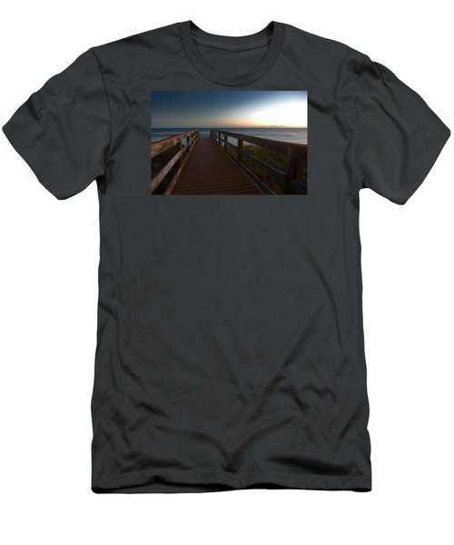 Men's T-Shirt (Slim Fit) featuring the photograph The Long Walk Home by Renee Hardison