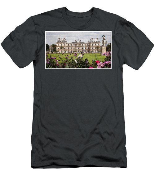 Men's T-Shirt (Slim Fit) featuring the digital art The Luxembourg Palace by Kai Saarto