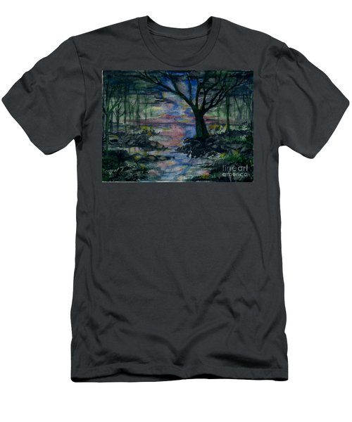 Men's T-Shirt (Athletic Fit) featuring the painting The Magic Hour by Reed Novotny