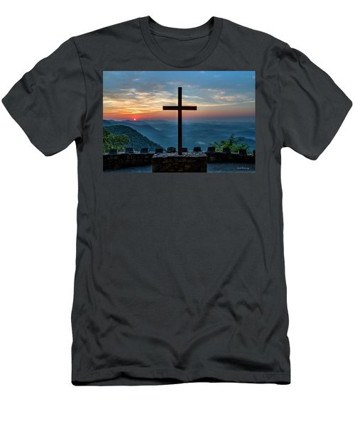 The Magnificent Cross Pretty Place Chapel Greenville Sc Great Smoky Mountains Art Men's T-Shirt (Athletic Fit)