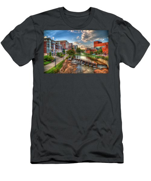 The Main Attraction Reedy River Greenville South Carolina Art Men's T-Shirt (Athletic Fit)