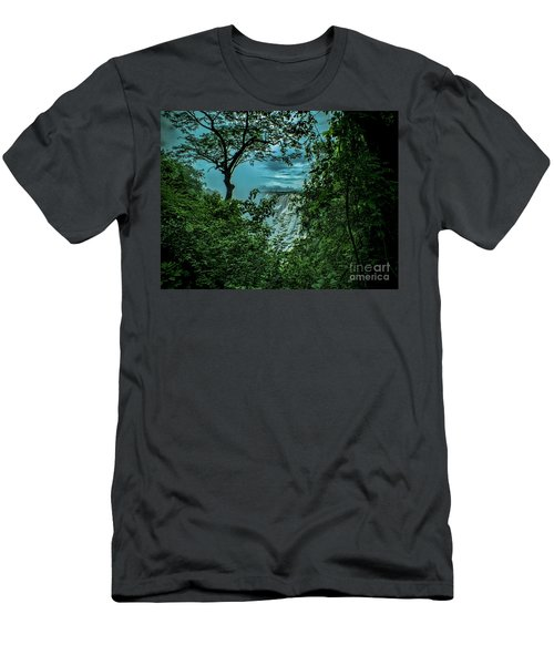 Men's T-Shirt (Slim Fit) featuring the photograph The Majestic Victoria Falls by Karen Lewis