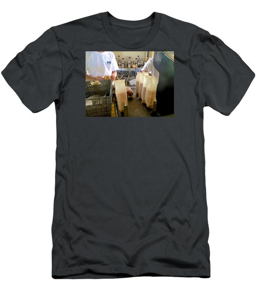 The Making Of A Puka Dog Men's T-Shirt (Slim Fit) by Brenda Pressnall