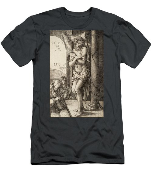 The Man Of Sorrows By The Column With The Virgin And St. John  Men's T-Shirt (Athletic Fit)