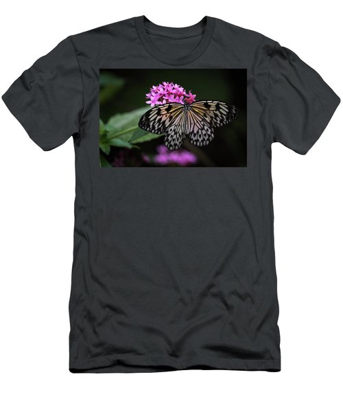 Men's T-Shirt (Athletic Fit) featuring the photograph The Master Calls A Butterfly by Cindy Lark Hartman