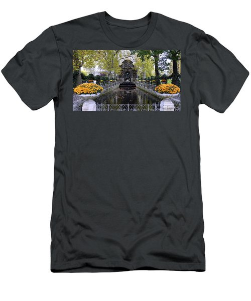 The Medici Fountain At The Jardin Du Luxembourg In Paris France. Men's T-Shirt (Athletic Fit)