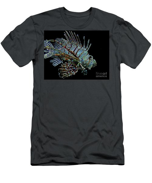 The Mighty Lion Fish Men's T-Shirt (Slim Fit) by Carol F Austin
