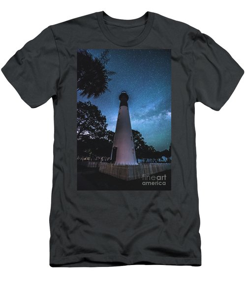 The Milky Way At Saint Helena Light House Men's T-Shirt (Athletic Fit)