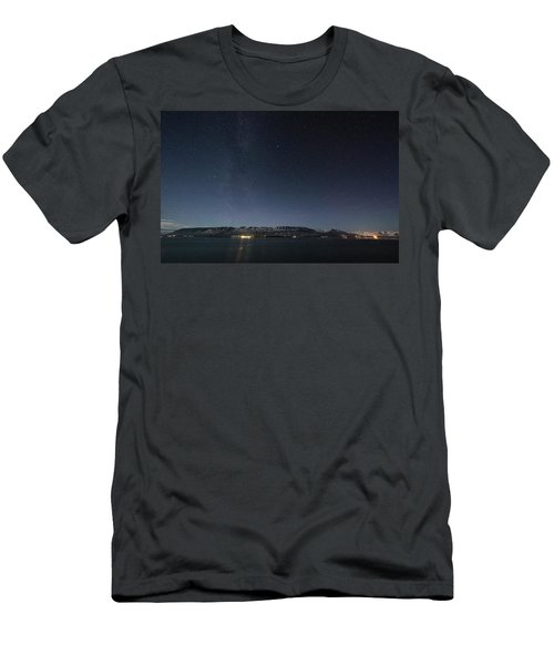 The Milky Way Over Northern Iceland Men's T-Shirt (Athletic Fit)