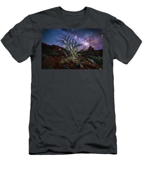 The Milky Way Tree Men's T-Shirt (Athletic Fit)