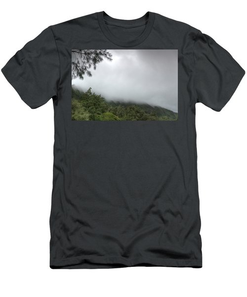 Men's T-Shirt (Athletic Fit) featuring the photograph The Mist On The Mountain by Break The Silhouette
