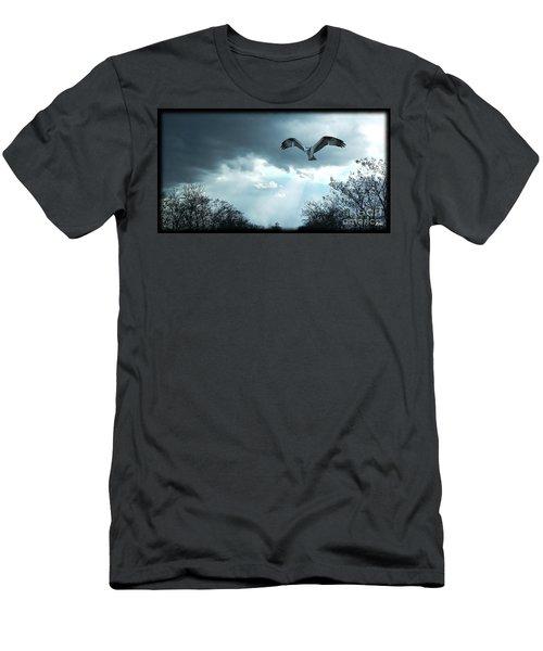 Men's T-Shirt (Slim Fit) featuring the digital art The Hawk by Zedi
