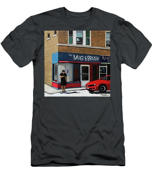 The Mug And Brush - Urban Painting Men's T-Shirt (Athletic Fit)
