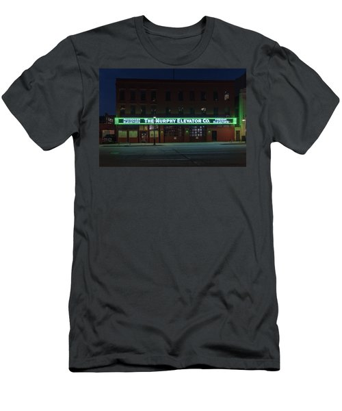 Men's T-Shirt (Athletic Fit) featuring the photograph The Murphy Elevator Company by Randy Scherkenbach