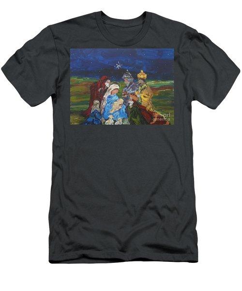 The Nativity Men's T-Shirt (Slim Fit) by Reina Resto