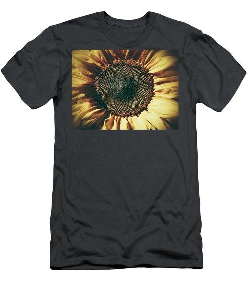 The Not So Sunny Sunflower Men's T-Shirt (Slim Fit) by Karen Stahlros