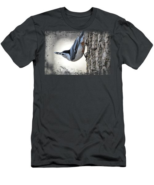 The Nuthatch 2 Men's T-Shirt (Slim Fit) by Bonfire Photography