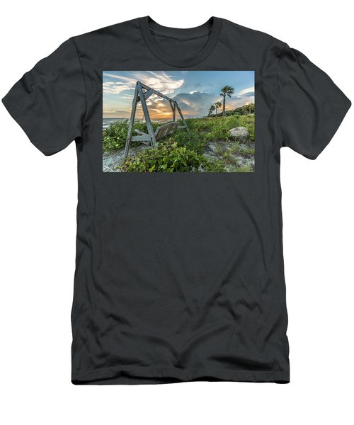 The Old Beach Swing -  Sullivan's Island, Sc Men's T-Shirt (Athletic Fit)