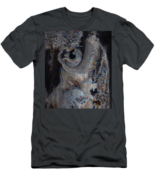 The Old Owl That Watches Men's T-Shirt (Slim Fit) by ISAW Gallery