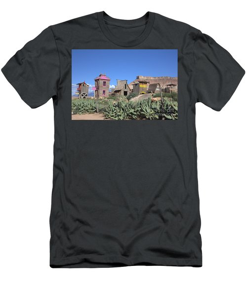 The Old Western Town  Men's T-Shirt (Athletic Fit)