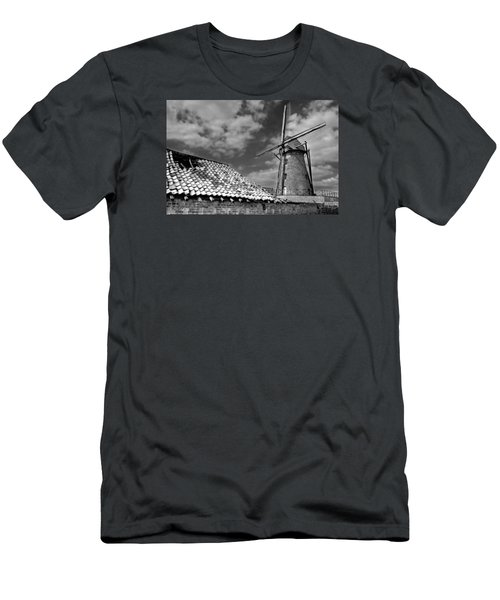 The Old Windmill Men's T-Shirt (Slim Fit) by Jeremy Lavender Photography