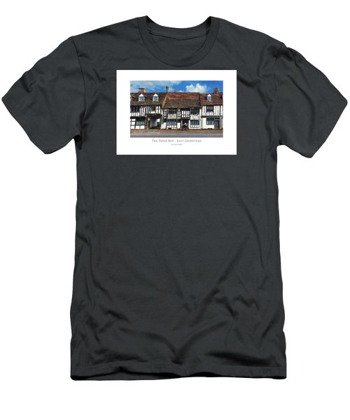 Men's T-Shirt (Athletic Fit) featuring the digital art The Paper Boy - East Grinstead by Julian Perry